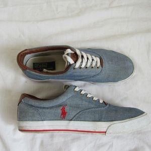 Polo Ralph Lauren VAUGHN Blue Canvas Sneaker 11
